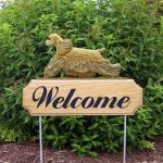 American-Cocker-Spaniel-Dog-Breed-Oak-Wood-Welcome-Outdoor-Yard-Sign-Buff-400706780959