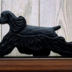American-Cocker-Spaniel-Dog-Figurine-Sign-Plaque-Display-Wall-Decoration-Black-181430755129