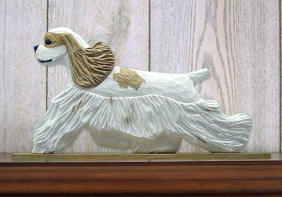 American-Cocker-Spaniel-Dog-Figurine-Sign-Plaque-Display-Wall-Decoration-Brown-P-181430756036