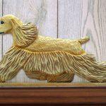 American-Cocker-Spaniel-Dog-Figurine-Sign-Plaque-Display-Wall-Decoration-Buff-400721982400