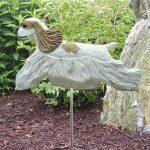 American-Cocker-Spaniel-Outdoor-Garden-Dog-Sign-Hand-Painted-Figure-Brown-Parti-181369635911
