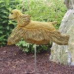 American-Cocker-Spaniel-Outdoor-Garden-Dog-Sign-Hand-Painted-Figure-Buff-181369636438