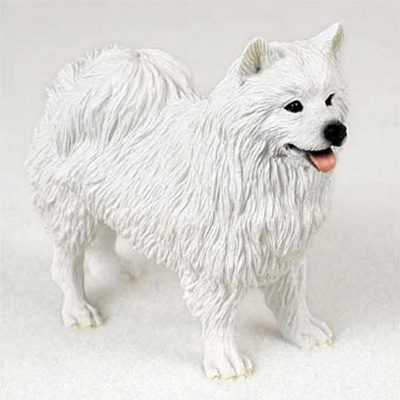 American-Eskimo-Hand-Painted-Collectible-Dog-Figurine-400479995759
