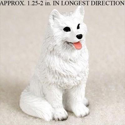 American-Eskimo-Mini-Resin-Hand-Painted-Dog-Figurine-Statue-181350378579