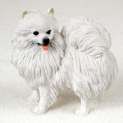 American-Eskimo-Miniature-Hand-Painted-Collectible-Dog-Figurine-180973404903