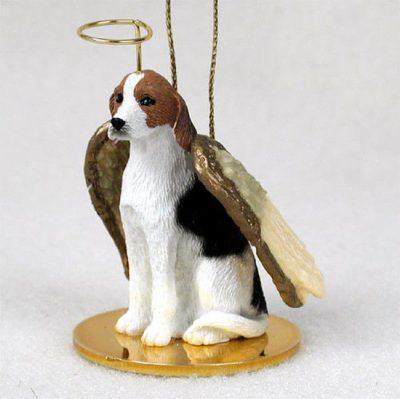 American-Fox-Hound-Dog-Figurine-Angel-Statue-Hand-Painted-400201486612