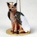 Australian-Cattle-Dog-Figurine-Angel-Statue-Hand-Painted-Red-400709824690