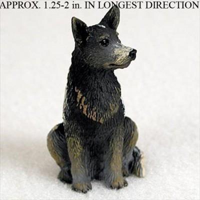 Australian-Cattle-Dog-Mini-Resin-Hand-Painted-Dog-Figurine-Statue-Blue-181241849293
