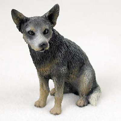 Australian-Cattle-Hand-Painted-Collectible-Dog-Figurine-Blue-400250769652