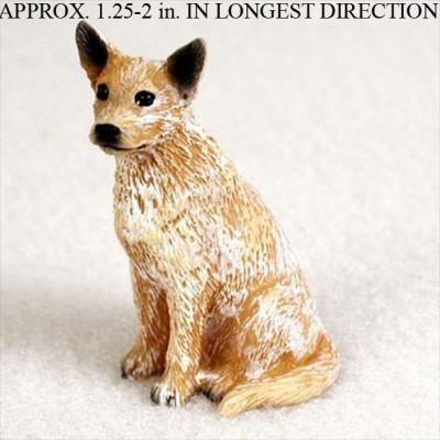 Australian-Cattle-Mini-Resin-Hand-Painted-Dog-Figurine-Red-180793077702