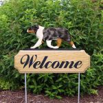 Australian-Shepherd-Dog-Breed-Oak-Wood-Welcome-Outdoor-Yard-Sign-Blue-Merle-181404154398
