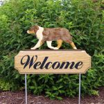 Australian-Shepherd-Dog-Breed-Oak-Wood-Welcome-Outdoor-Yard-Sign-Red-Merle-181404154631