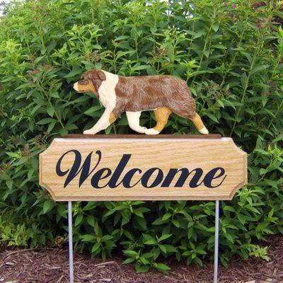 Australian-Shepherd-Dog-Breed-Oak-Wood-Welcome-Outdoor-Yard-Sign-Red-Merle-181404154631