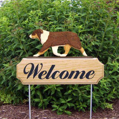 Australian-Shepherd-Dog-Breed-Oak-Wood-Welcome-Outdoor-Yard-Sign-Red-Tri-181404155024