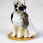 Australian-Shepherd-Dog-Figurine-Angel-Statue-Hand-Painted-Blue-400201486658