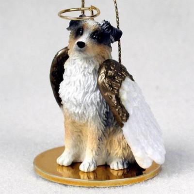 Australian-Shepherd-Dog-Figurine-Angel-Statue-Hand-Painted-Blue-Dock-400201486666