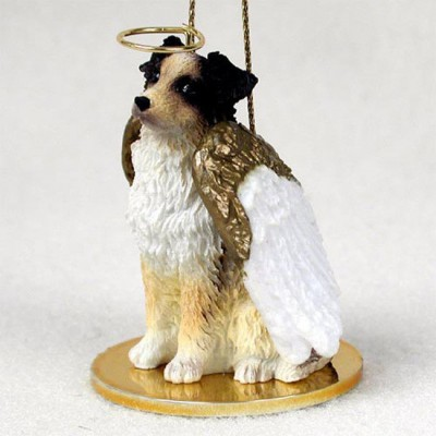 Australian-Shepherd-Dog-Figurine-Angel-Statue-Hand-Painted-Brown-400201486674