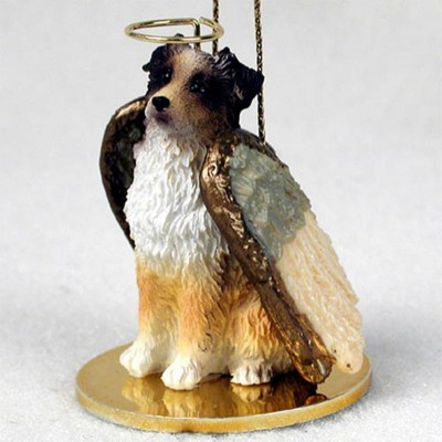 Australian-Shepherd-Dog-Figurine-Angel-Statue-Hand-Painted-Red-Docke-400219971755