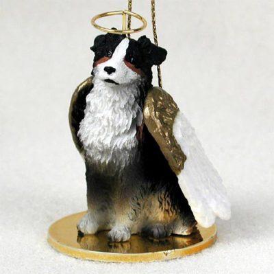 Australian-Shepherd-Dog-Figurine-Angel-Statue-Hand-Painted-Tri-Color-180637633327