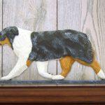 Australian-Shepherd-Dog-Figurine-Sign-Plaque-Display-Wall-Decoration-Blue-Merle-181430758388