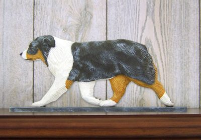 Australian-Shepherd-Dog-Figurine-Sign-Plaque-Display-Wall-Decoration-Blue-Merle-181430758388
