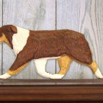 Australian-Shepherd-Dog-Figurine-Sign-Plaque-Display-Wall-Decoration-Red-Tri-181430759261
