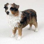 Australian-Shepherd-Hand-Painted-Collectible-Dog-Figurine-Brown-400314833853