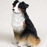 Australian-Shepherd-Mini-Resin-Hand-Painted-Dog-Figurine-Tri-181136199566