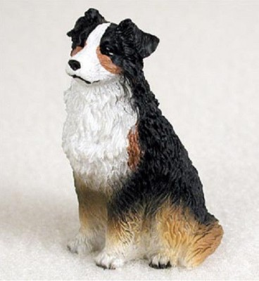 Australian-Shepherd-Mini-Resin-Hand-Painted-Dog-Figurine-Tri-181136199566