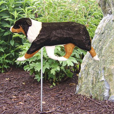 Australian-Shepherd-Outdoor-Garden-Dog-Sign-Hand-Painted-Figure-Black-Tri-400688294611