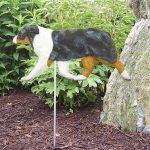 Australian-Shepherd-Outdoor-Garden-Dog-Sign-Hand-Painted-Figure-Blue-Merle-181369637877