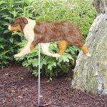 Australian-Shepherd-Outdoor-Garden-Dog-Sign-Hand-Painted-Figure-Red-Merle-400688295158