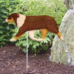 Australian-Shepherd-Outdoor-Garden-Dog-Sign-Hand-Painted-Figure-Red-Tri-181369638726