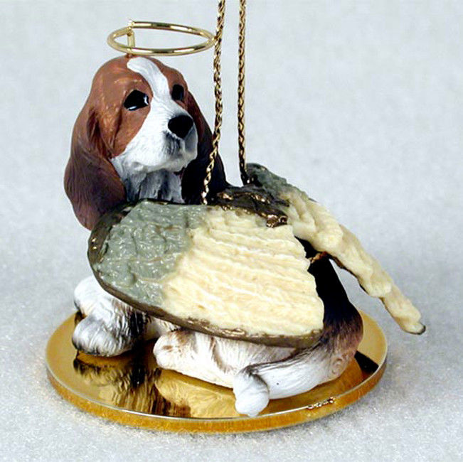 Basset Hound Angel - Guardian Angel Figurine Ornament