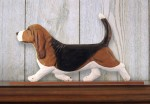 Basset-Hound-Dog-Figurine-Sign-Plaque-Display-Wall-Decoration-Tri-181430760603