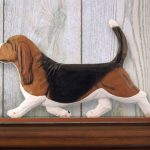 Basset-Hound-Dog-Figurine-Sign-Plaque-Display-Wall-Decoration-Tri-181430760603
