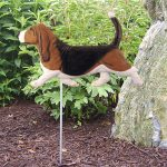 Basset-Hound-Outdoor-Garden-Dog-Sign-Hand-Painted-Figure-Tri-181369640420