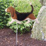 Basset-Hound-Outdoor-Garden-Dog-Sign-Hand-Painted-Figure-Tri-181369640420