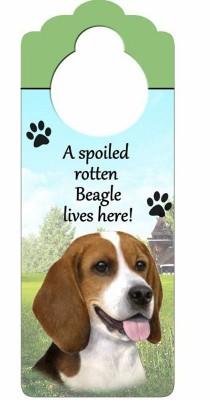 Beagle-Dog-Door-Knob-Handle-Hanger-Sign-Spoiled-Rotten-1025-x-4-181160015811