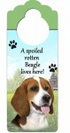 Beagle-Dog-Door-Knob-Handle-Hanger-Sign-Spoiled-Rotten-1025-x-4-181160015811