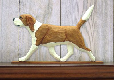 Beagle-Dog-Figurine-Sign-Plaque-Display-Wall-Decoration-RedWhite-181430761008