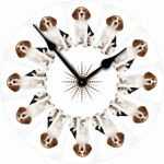 Beagle-Dog-Wall-Clock-10-Round-Wood-Made-in-USA-400707270964