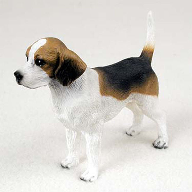 Beagle Dog Statues Life Like Hand Painted Figurines