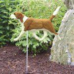 Beagle-Outdoor-Garden-Dog-Sign-Hand-Painted-Figure-RedWhite-181369640910