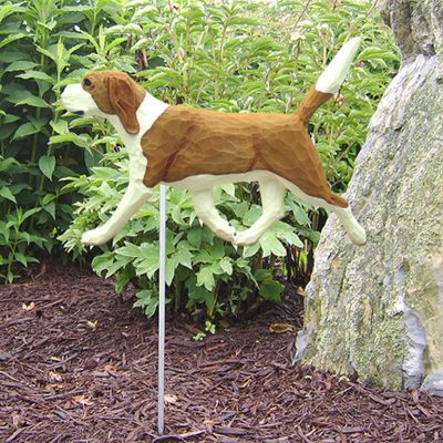 Beagle-Outdoor-Garden-Dog-Sign-Hand-Painted-Figure-RedWhite-181369640910