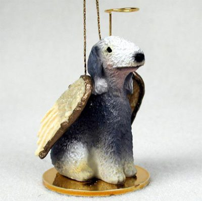 Bedlington-Terrier-Dog-Figurine-Angel-Statue-Hand-Painted-400201486754