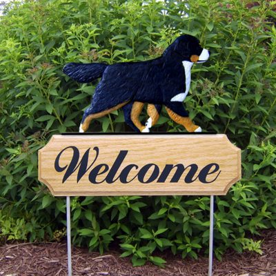 Bernese-Mountain-Dog-Dog-Breed-Oak-Wood-Welcome-Outdoor-Yard-Sign-181404158767