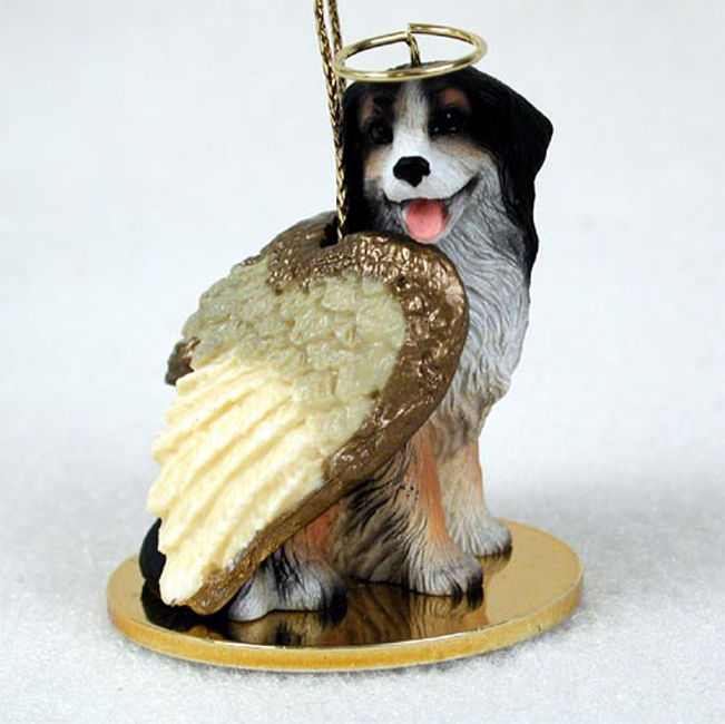 Bernese Mountain Dog Ornament Angel Figurine Hand Painted