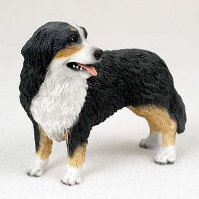 Bernese-Mountain-Hand-Painted-Collectible-Dog-Figurine-180675492535