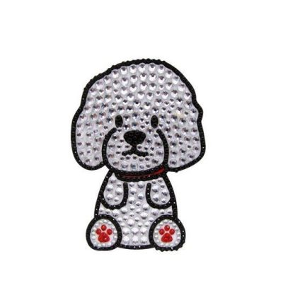 Bichon-Frise-Dog-Rhinestone-Glitter-Jewel-Phone-Ipod-Iphone-Sticker-Decal-181225900735